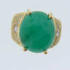 Lady's Jadeite Jade Diamond Ring