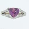 Phillip Zahm Pink Sapphire Diamond Ring
