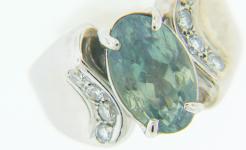 Lady's Alexandrite Diamond Ring
