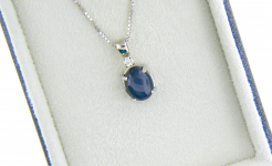 Star Sapphire Diamond Pendant