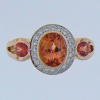 Phillip Zahm Orange Sapphire Diamond Ring